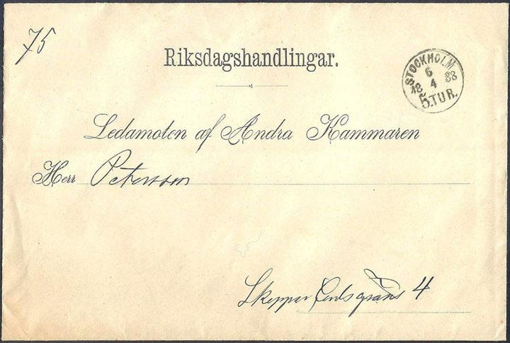 Schweden 1879 Ganzsache Malmö Nach Kopenhagen